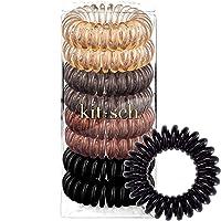 Kitsch Spiral Hair Ties, Coil Hair Ties, Phone Cord Hair Ties, Hair Coils - 8 Pcs...