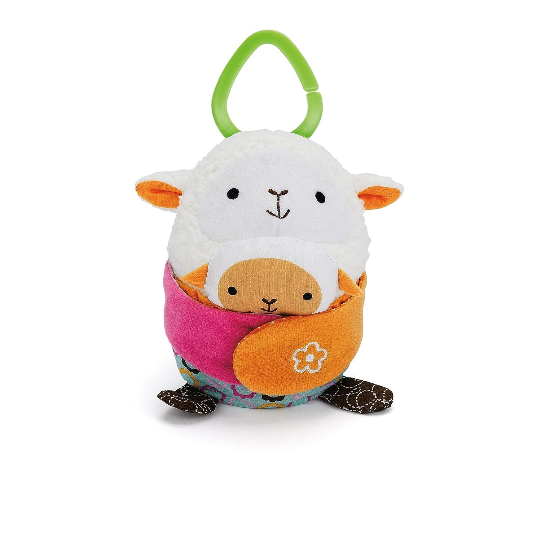 Discontinued by Manufacturer Lamb Skip Hop Hug and Hide Stroller Toy