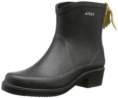 8eb9521e91453 Aigle Womens Miss Juliette Bottillon Black Rubber Boots - 36 M EU   3.5 F(