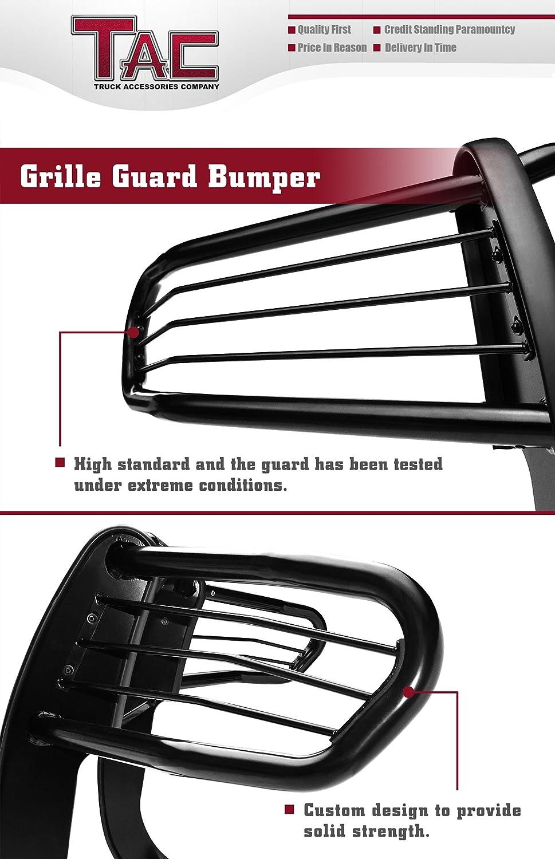 TAC Grill Guard Fit 1998-2000 Toyota Tacoma 1996-1998 Toyota 4Runner Pickup Truck Black Front Bumper Brush Nudge Push Bull Bar