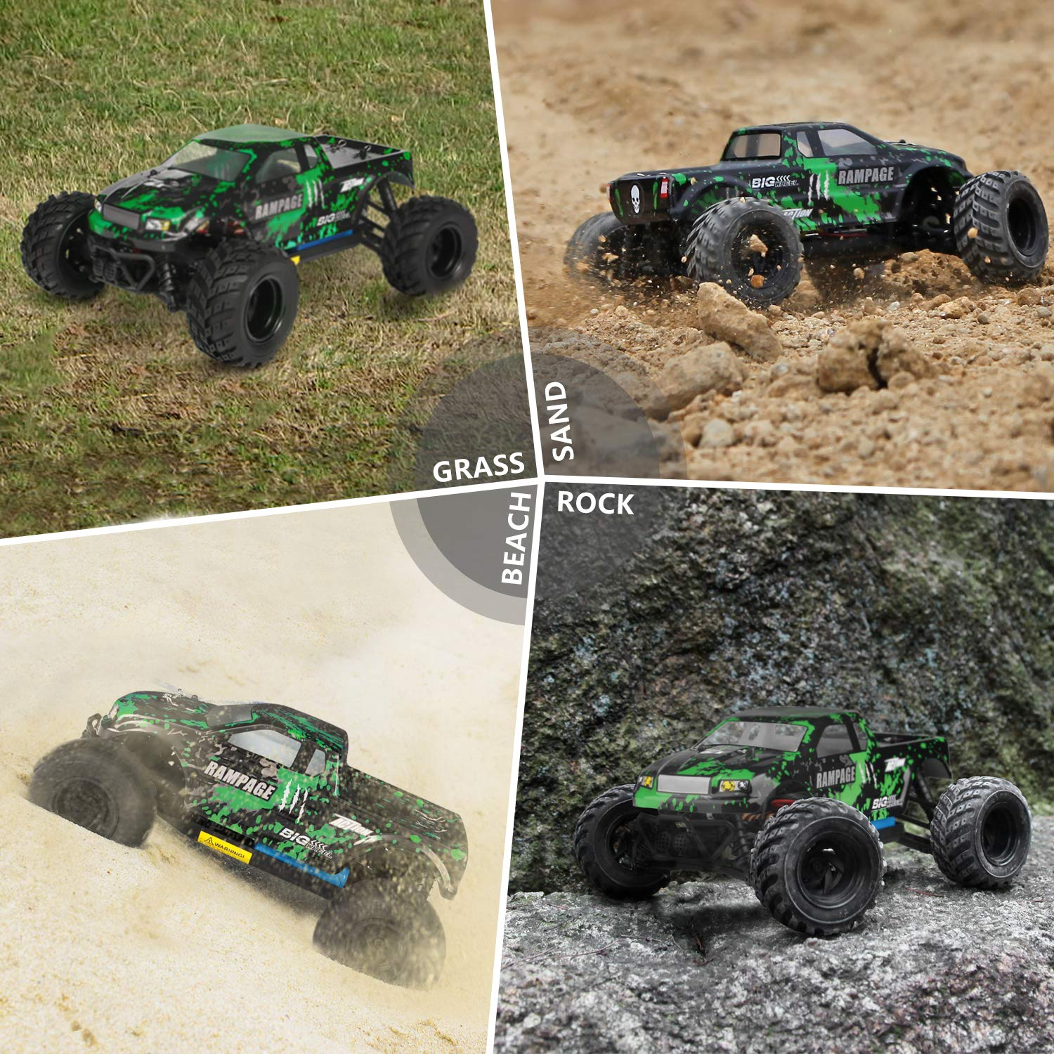 HBX 1:18 Scale All Terrain RC Car 18859E, 30+MPH High Speed 4WD Electric Vehicle with 2.4 GHz Radio Controller, Waterproof Off-Road Truck Included Battery and Charger by BBM HOBBY (Image #3)