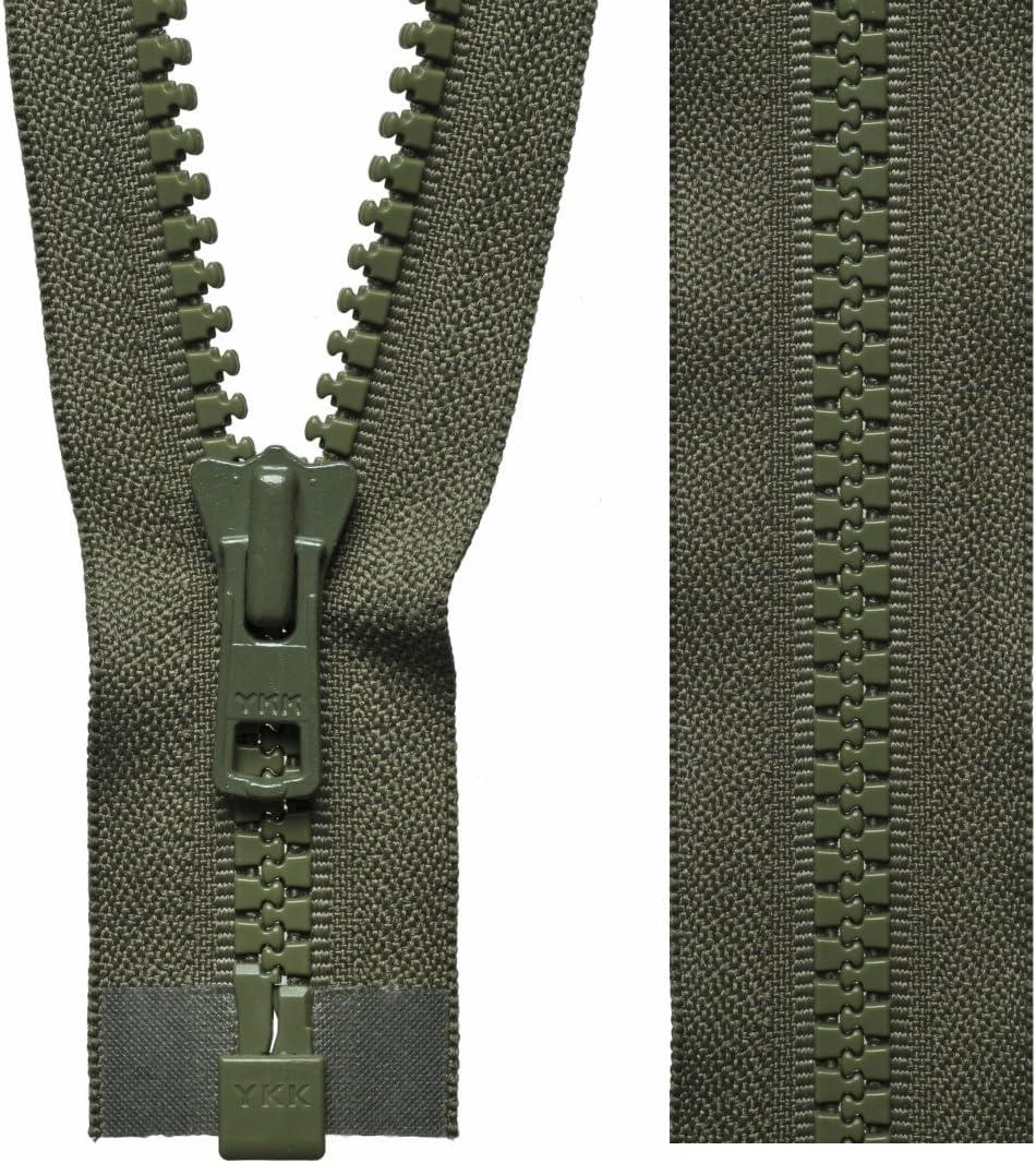 46cm Kaki YKK Vislon Fermeture /Éclair Extr/émit/é ouverte /épais Ultra r/ésistant fermetures /Éclair Manteau 46/cm /à 81/cm 18.11 Inches