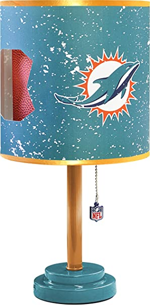 Amazon idea nuova nfl miami dolphins idea nuova nfl miami dolphins table lamp with die cut lamp shade mozeypictures Image collections