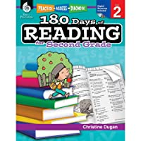 180 Days of Reading for Second Grade (Ages 6 - 8) Easy-to-Use 2nd Grade Workbook to Improve Reading Comprehension Quickly, Fun Daily Phonics Practice for 2nd Grade Reading