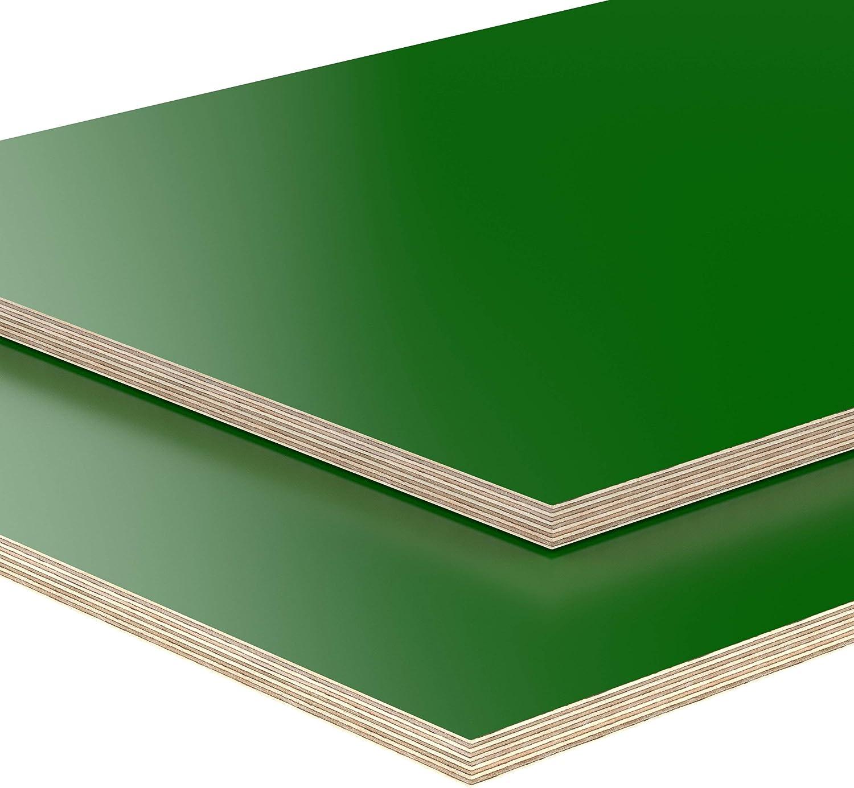 40x20 cm AUPROTEC Tischplatte 18mm gr/ün 400 mm x 200 mm rechteckige Multiplexplatte melaminbeschichtet von 40cm-200cm ausw/ählbar Birken-Sperrholzplatten Massiv Holz Industriequalit/ät Auswahl