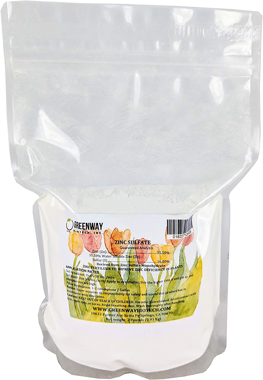 Zinc Sulfate Powder - Contains 35.5% Zinc & 16.5% Sulfur