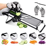 Mandoline Food Slicer Adjustable Thickness for Cheese Fruits Vegetables Stainless Steel Food Cutter Slicer Dicer with…