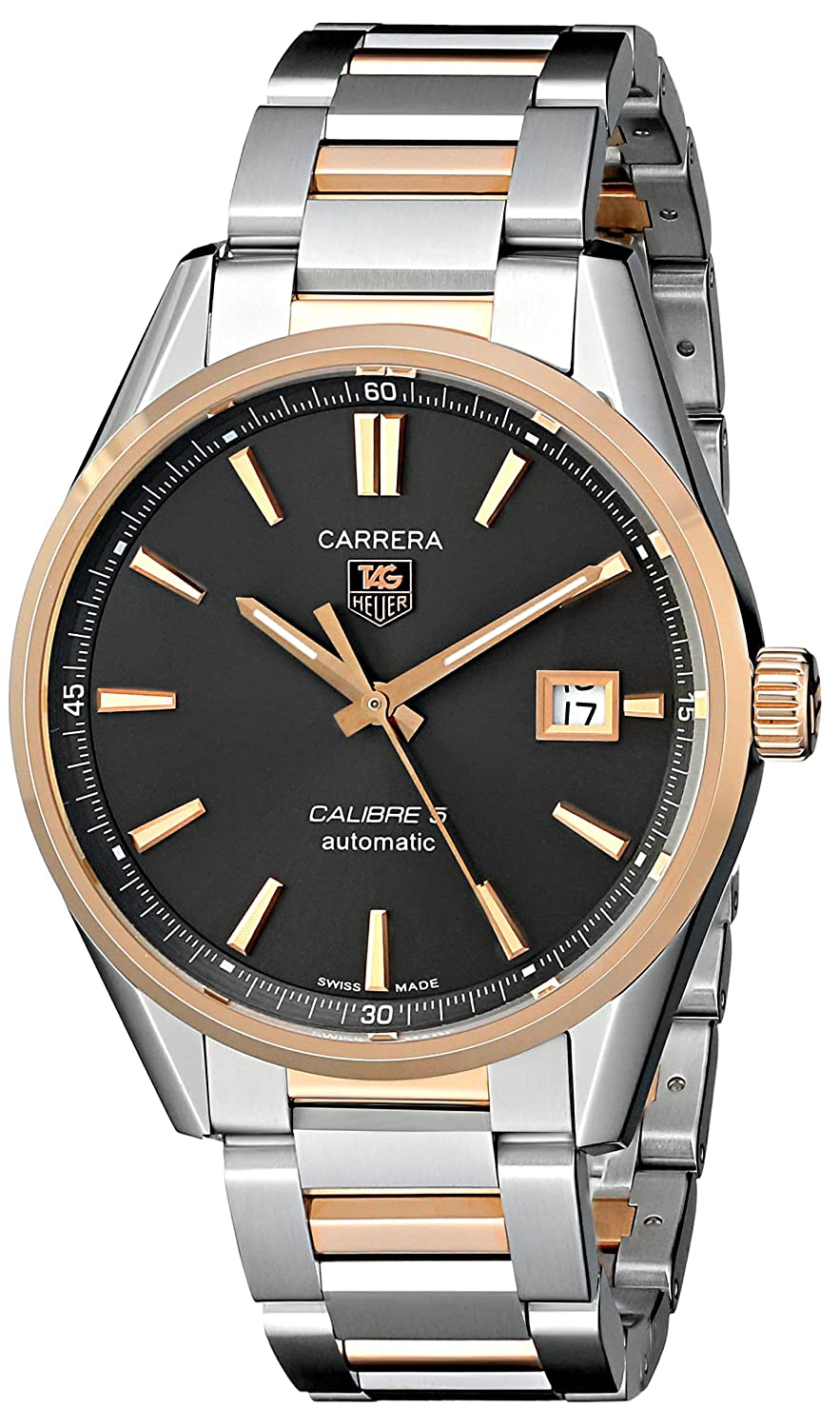 TAG Heuer Men's WAR215E.BD0784 Carrera Rose-Gold and Stainless Steel Watch