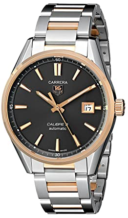 Tag Heuer Men S War215e Bd0784 Carrera Rose Gold And Stainless Steel Watch