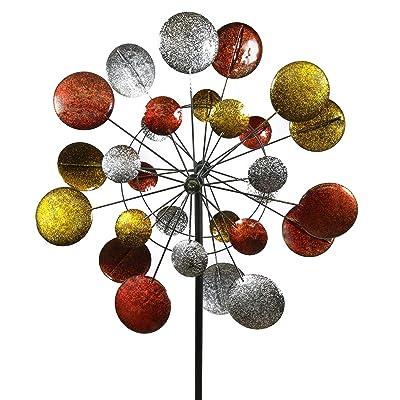 Jumbo Modern Art Kinetic Quadruple Wind Sculpture Spinner : Garden & Outdoor