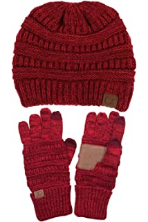 a3ec6d5edf0 ... Chunky Soft Stretch Cable Knit Beanie, Scarves and Gloves Set · $49.99  · ScarvesMe C.C Two Tone Warm Cable Knit Thick Slouch Beanie Cap and Gloves  Set