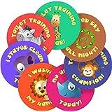Cute Potty Training Animals Reward Sticker Labels, 70 Stickers @ 2.5cm, Glossy Photo Quality, Ideal for Children Parents Teachers Schools Doctors Nurses Opticians Pupils Classrooms Merit Motivation Praise