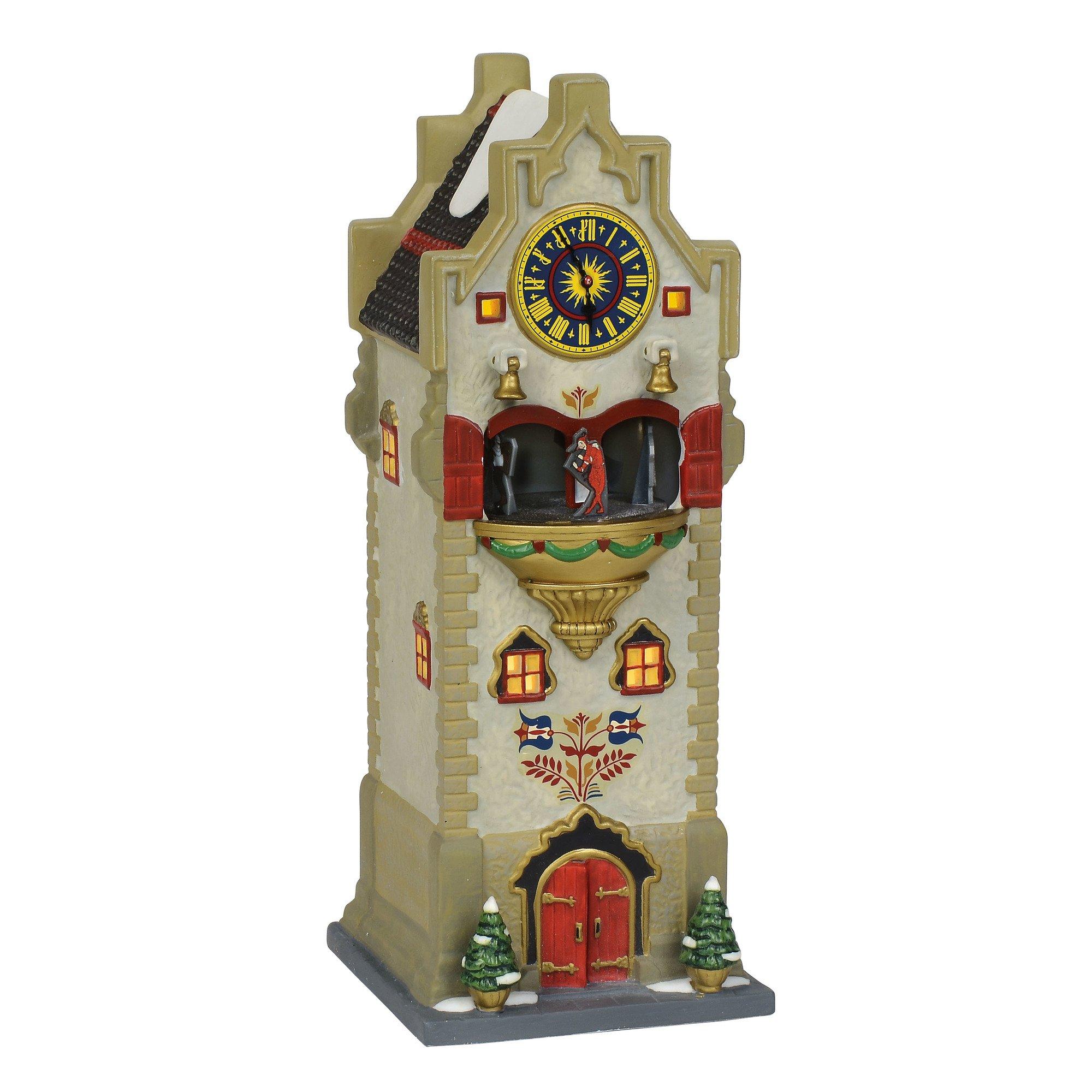 Department 56 Alpine Village Rhineland Glockenspiel Lit Animated Building, 10'', Multicolor by Department 56