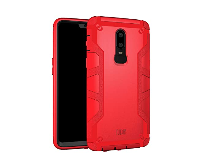 big sale 630fb aecbc OnePlus 6 Case, TUDIA OMNIX [Heavy Duty] Hybrid [Full-Body] Case with Front  Cover and Built-in Screen Protector/Impact Resistant Bumpers for OnePlus 6  ...