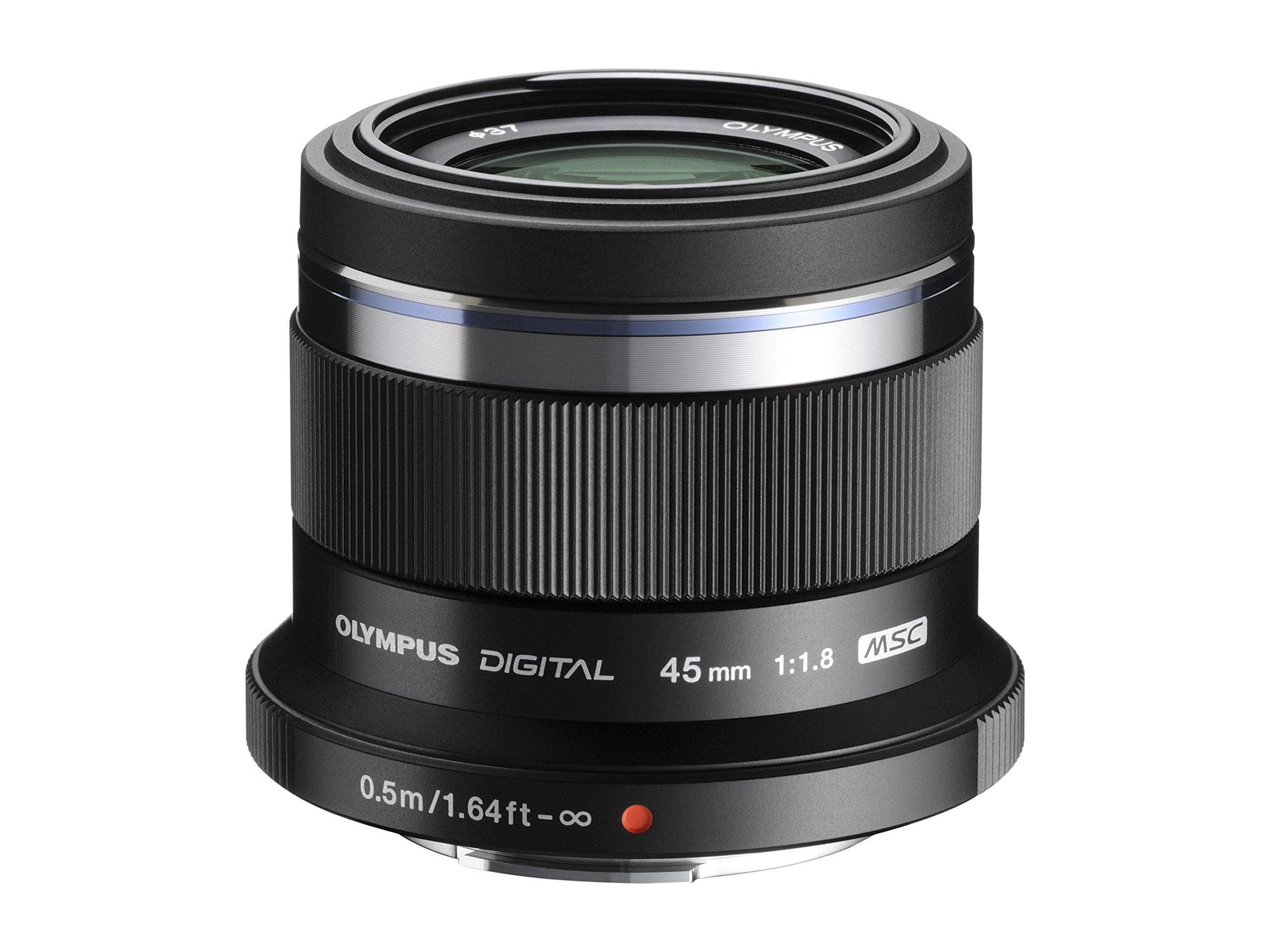 Olympus M. Zuiko Digital ED 45mm f1.8 (Black) Lens for Micro 4/3 Cameras - International Version (No Warranty) by Olympus