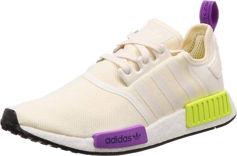 adidas NMD Sneakers Laufschuhe Herren Beige Gelb Lila