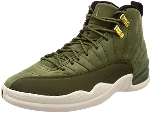 91da8c8317ad Nike Men s s Air Jordan 12 Retro Gymnastics Shoes Green (Olive  Canvas Metallic Gold