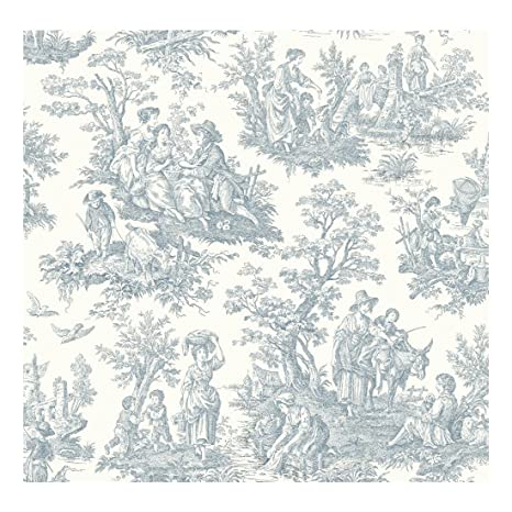 York Wallcoverings Waverly Classics Country Life Removable Wallpaper Whiteblue