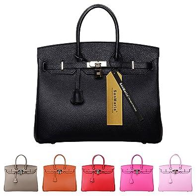 Amazon.com: SanMario Designer Handbag Top Handle Padlock Women's ...