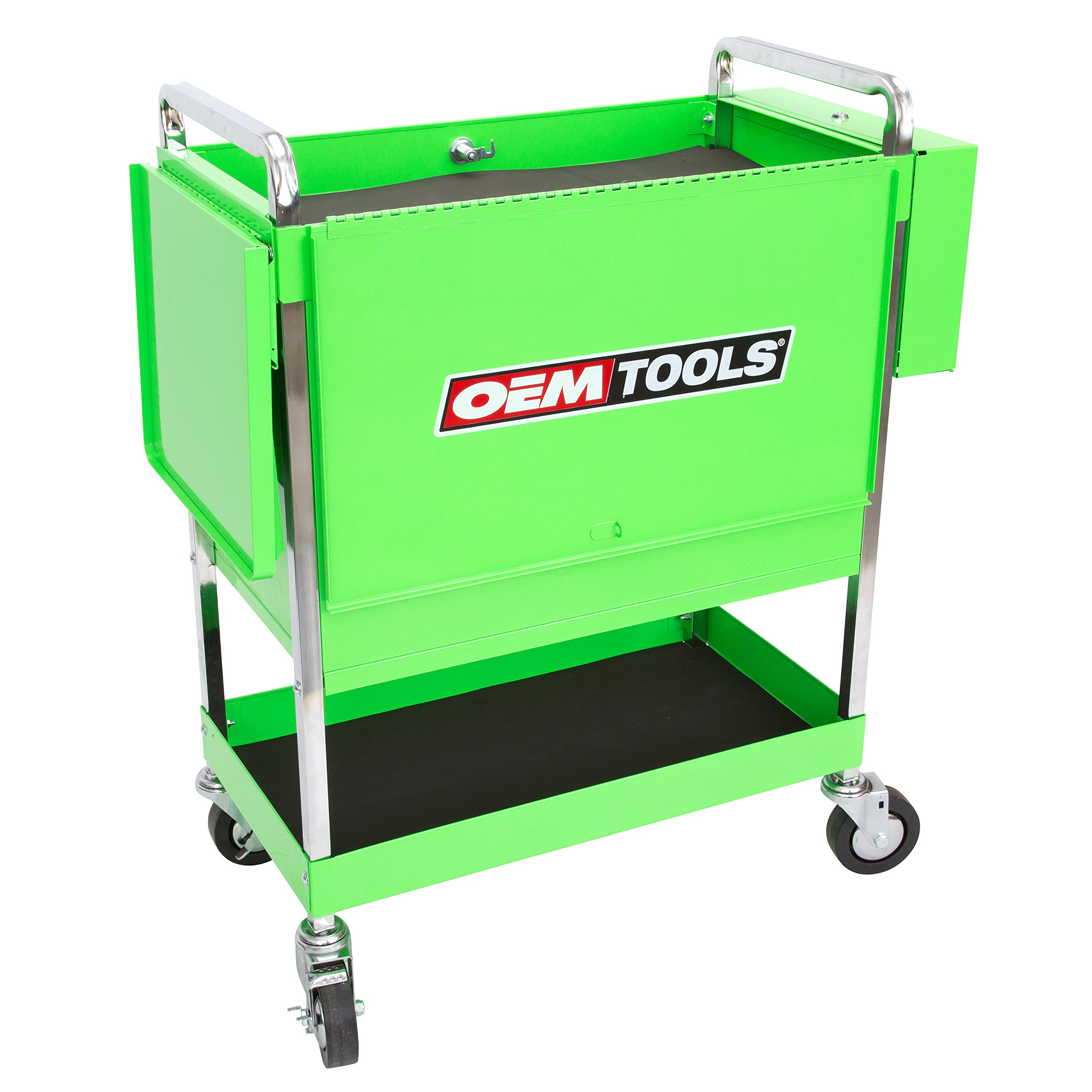 Professional Service Cart - 5 Drawer and 1 Tray (Green) by OEMTOOLS (Image #3)
