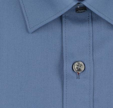 Marvelis Camisa, Body Manga Larga, fácil de Planchar, Fit, Cielo Azul