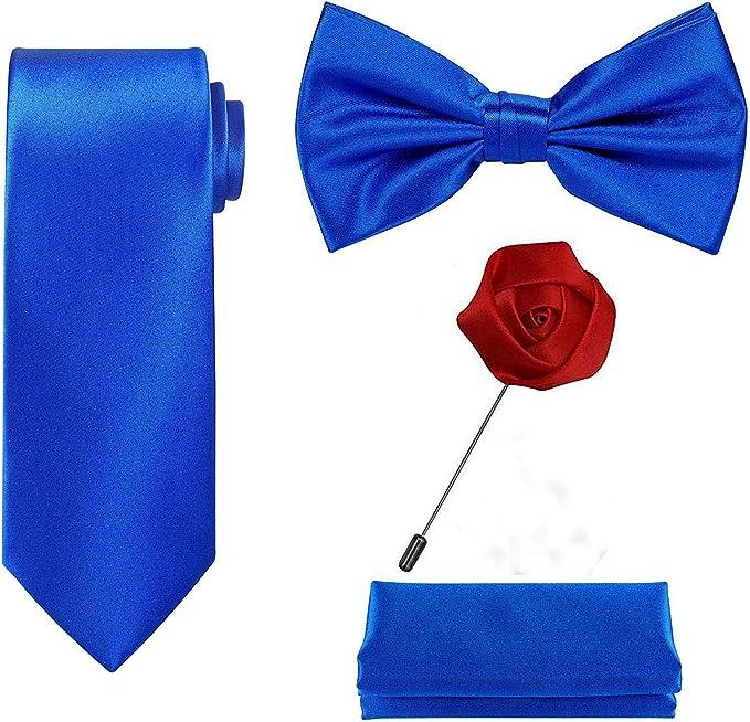 WeiShang Juego de 4 piezas de corbata en una caja de regalo color ...