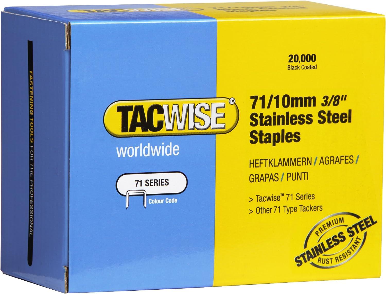 71//10mm,20.000 St/ück pro Verpackung Tacwise 0375 Edelstahlklammern