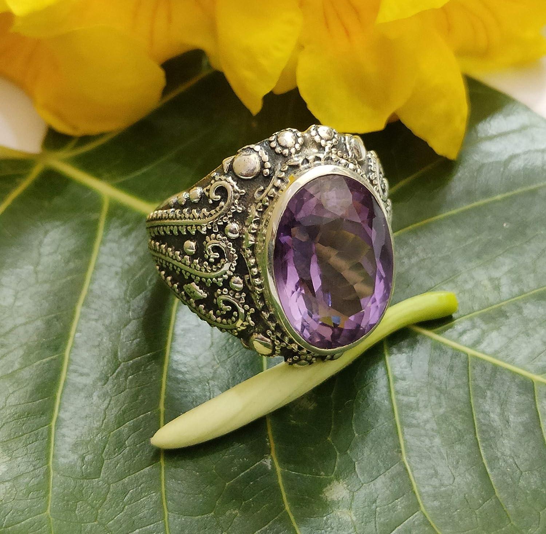 Amethyst Ring,Silver ring,Handmade Ring,Unique Ring,Boho Ring,Anniversary Ring,Wedding Ring,Vintage Ring,Gift Ring,Gift For Her,Women Ring