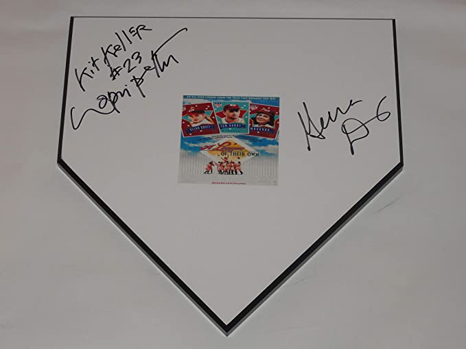 Cool Geena Davis Lori Petty Signed Home Plate A League Of Their Download Free Architecture Designs Rallybritishbridgeorg