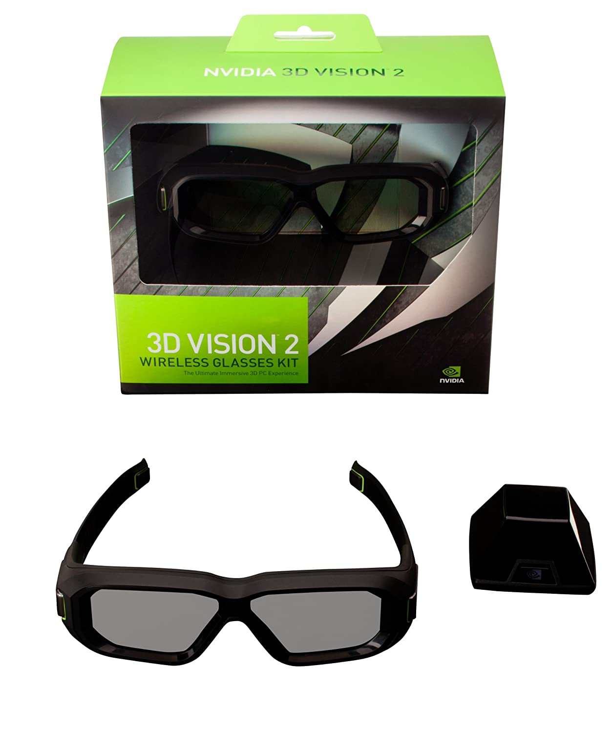 14d2ff5cb877 Nvidia 3D Vision 2 Wireless Glasses Kit  Amazon.co.uk  Computers    Accessories