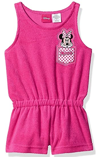 aa8be1ba0038 Minnie Mouse Disney Toddler Girls Terry Romper t Cover up with UPF 50+UV  Protection