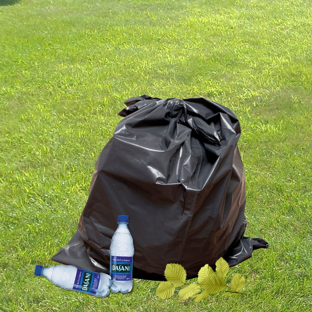 60 Gallon Extra Large Contractor Trash Bags 3 Mil, Durable Heavy Duty Drum Liner, Made in USA, Tough Garbage Bags for Cleanups 3mil (50)-41x55 by Ox Plastics (Image #4)
