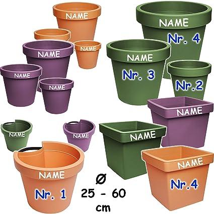24 cm Blumenkasten Pflanzgef/ä/ß Regenrinnenblumentopf alles-meine.de GmbH Rohr /& Stangen Name Gel/änd.. inkl braun // Caramel Regenrohr // Fallrohr terrakotta RUND