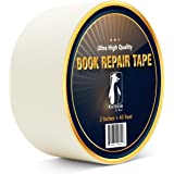 Bookbinding Tape, White Cloth Book Repair Tape for Bookbinders, Semi-Transparent Hinging Tape, Craft Tape, 2 Inches by…