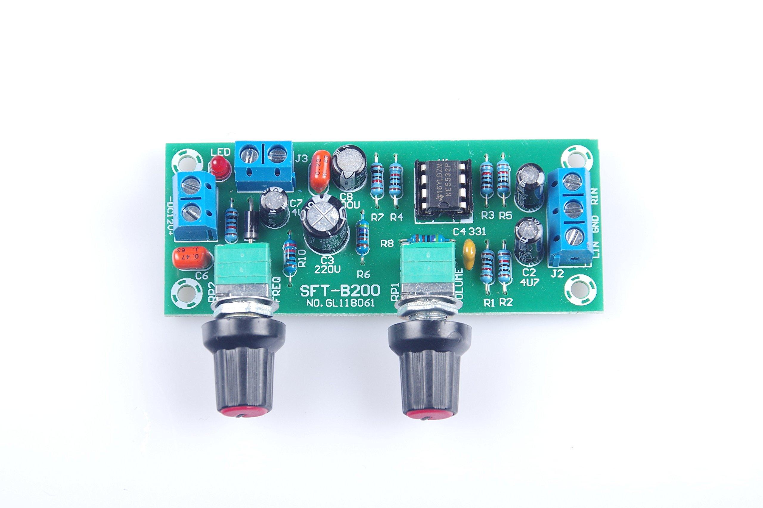 KNACRO DC 10V-24V Low-pass Filter NE5532 Bass Tone Subwoofer Pre-Amplifier Preamp Board