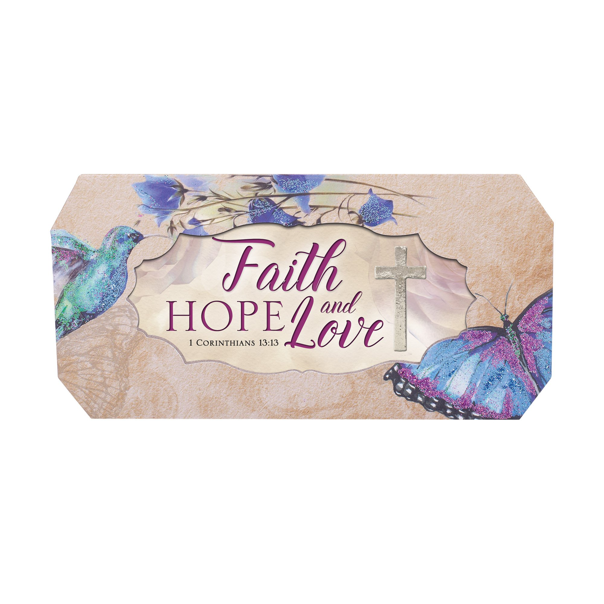 Cottage Garden Faith Hope And Love Butterfly and Bird Glitter Musical Box Plays Tune How Great Thou Art by Cottage Garden (Image #2)
