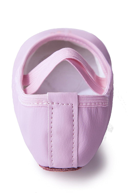 Toddler//Little Kid Girls Leather Ballet Dance Slipper Split-Sole Shoes