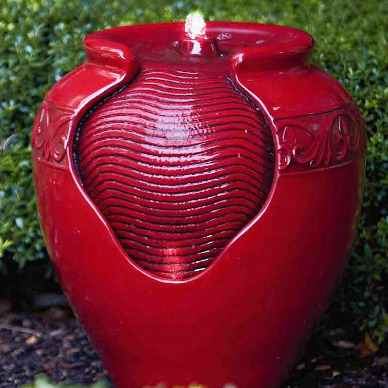 Eau de fontaine de pompe /à eau rouge de jardin de d/écor ext/érieur LED YG0034AZ Peaktop