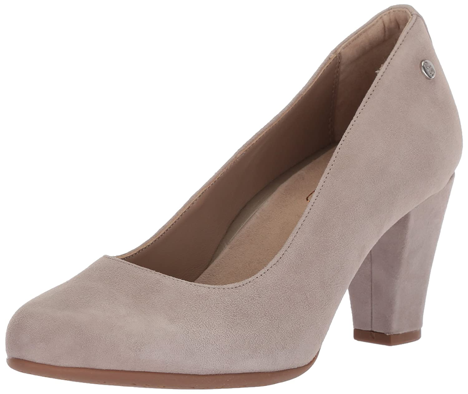 Ice Grey Suede Hush Puppies Womens Minam Meaghan Pump