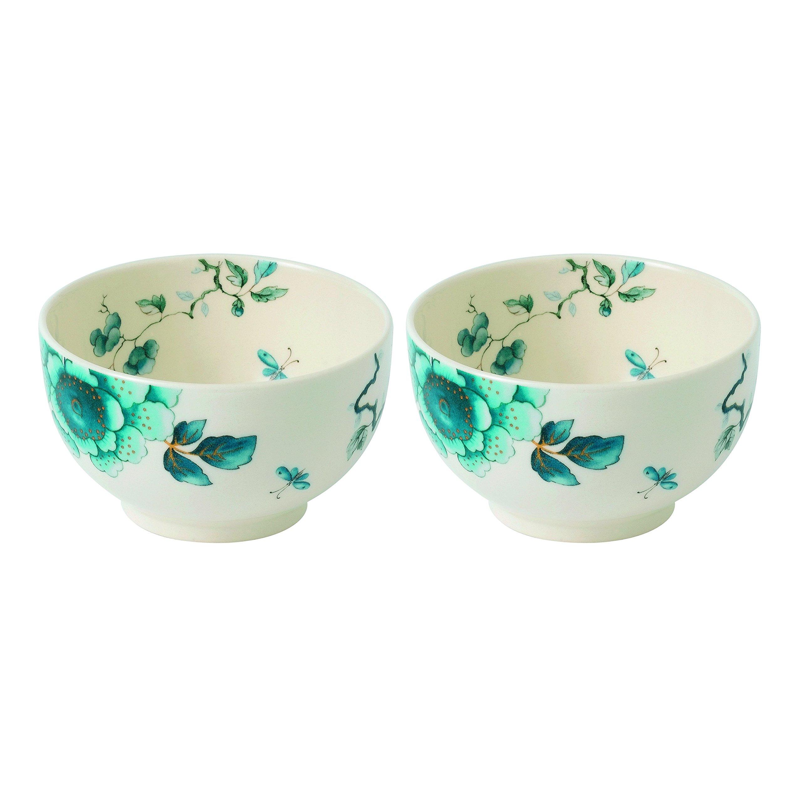 Wedgwood Blue Bird 4.3'' Dip Bowl (Set of 2), Multicolor