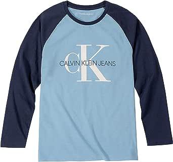 Calvin Klein Boys' Little Long Sleeve Tee