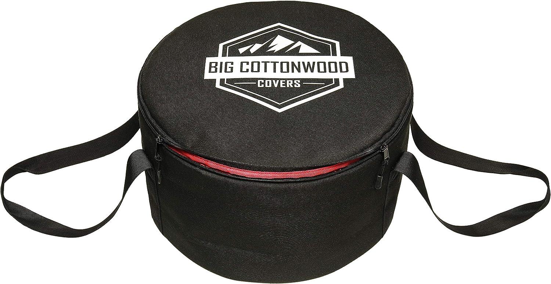 Big Cottonwood Dutch Oven case, Bag, Cover, Tote. (Black, 10)