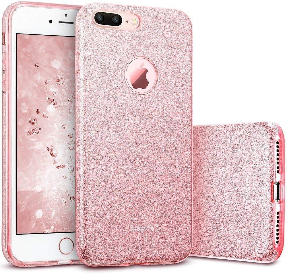 ESR Funda para iPhone 7 Plus con Purpurina Brillante de Tres Capas ...