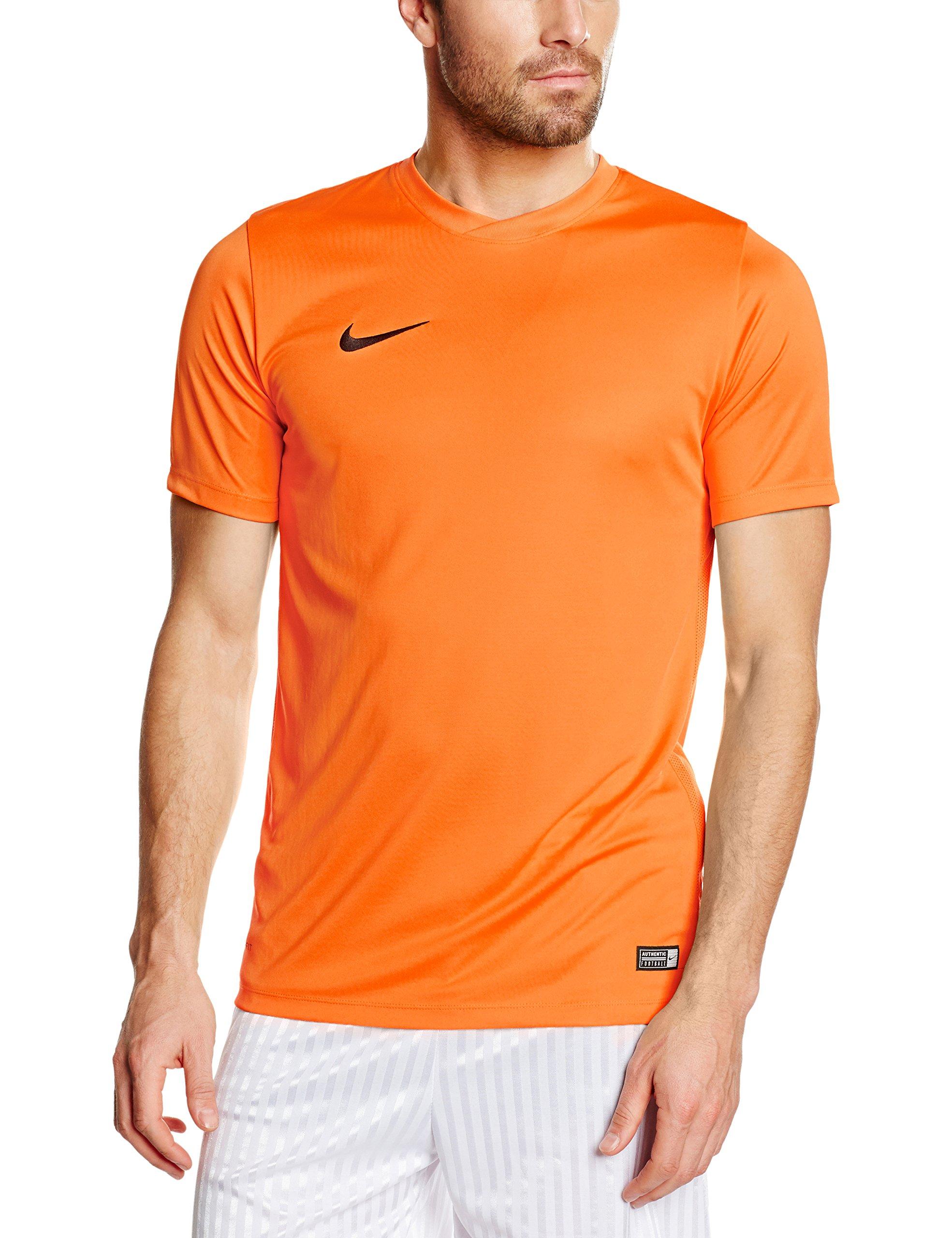 Nike Park VI Camiseta de Manga Corta para hombre, Naranja (Safety Naranja/Black