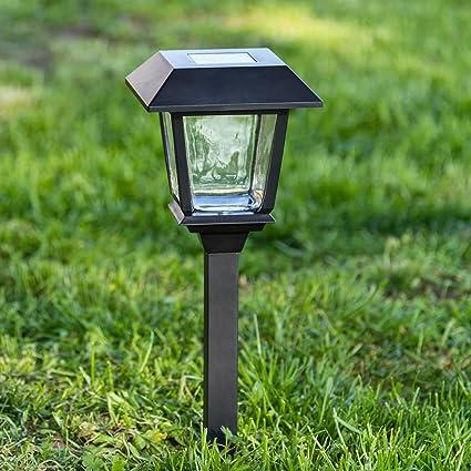 Xmas King Baliza Solar de jardín con farolillo Cuadrado, 48,5 cm, LED
