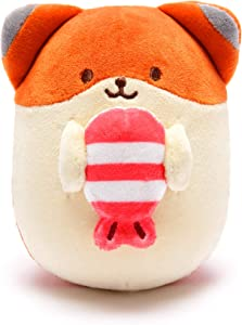 Anirollz Food Plush Stuffed Animal Fox Toy Sushi Squishy Mini Ball Foxiroll