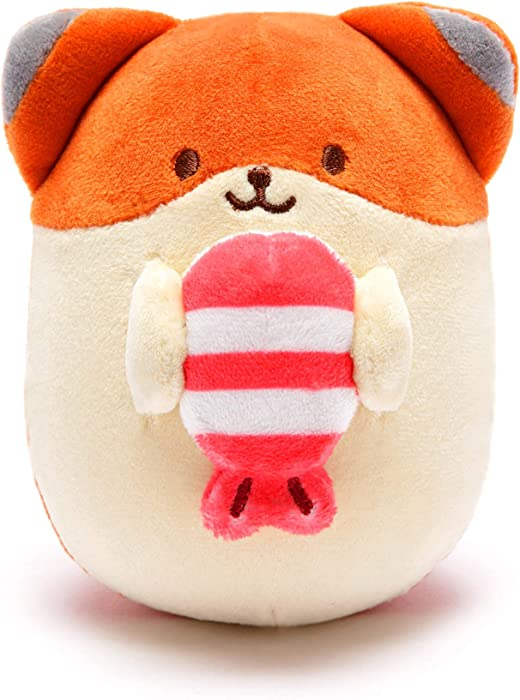Anirollz Food Plush Stuffed Animal Fox Toy Sushi Squishy Mini Ball Foxiroll