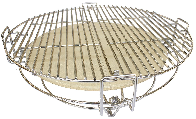 BBGrill Kamado Divide und Conquer Cooking System for 21 Zoll, grau, 48x48x5 cm, KA-24
