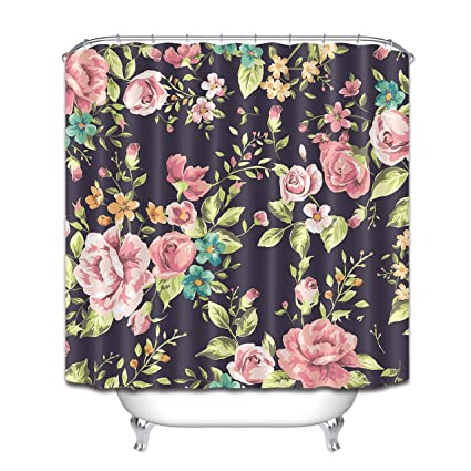 Amazon.com: LB Primitive Rustic Country Style Flower Pattern ...