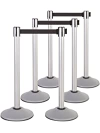 US Weight Heavy Duty Premium Steel Stanchion with 7.5-Foot Retractable Belt (More Colors Available)